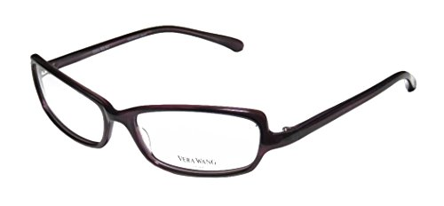 Vera Wang Poet Womens/Ladies Designer Full-rim Eyeglasses/Eye Glasses (53-15-125, Purple)