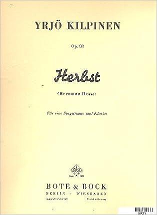 Herbst Op 98 Liederfolge Nach Gedichten Von Hermann Hesse