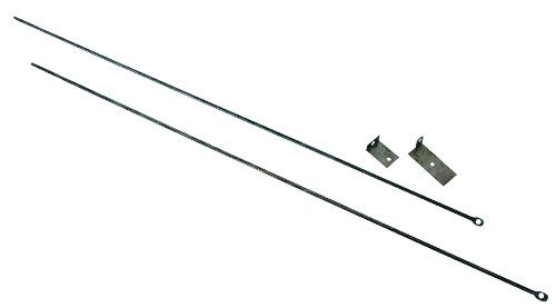 Uniflame, C-6800, Fireplace Curtain Rod KIT, 32 in. to 58 in. Long ()