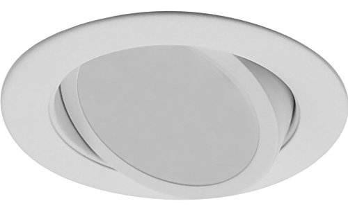 NICOR Lighting 4-Inch Dimmable 4000K LED Gimbal Recessed Downlight, White (DLG4-10-120-4K-WH) by NICOR Lighting