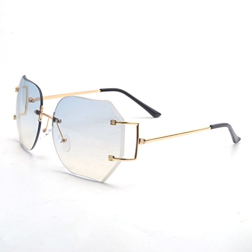 dfa25bc3d48 Jual MINCL Hot Oversized Rimless Sunglasses Women Clear Lens Eyewear ...