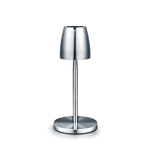Price comparison product image PRX Stainless steel ashtray high floor retractable metal smoky large living room coffee table home decoration household personality trend decoration living room bedroom outdoor