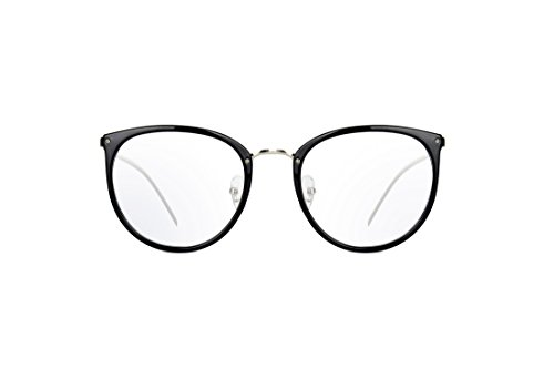 Amomoma Round Eyeglasses Oversize Clear Lens Glasses Optical Eyewear Frame A5001