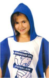 Childrens/Kids Birmingham City Football Club Poncho 100% cotton beach Towel (60 x 120cm) …