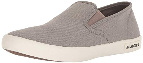 (SeaVees Men's Baja Slip On Standard Casual Sneaker,Tin Grey, 13)