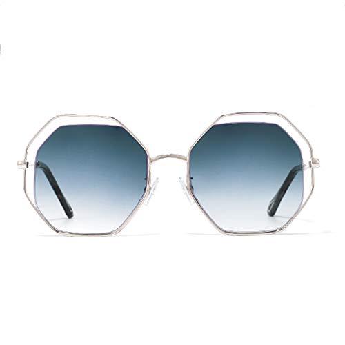 même Red Polygon de de Nouvelle Soleil avec E Lunettes Box Couleur Net personnalité Paragraphe soleil Sport Des Big lunettes Le Femme D 60qxCTw