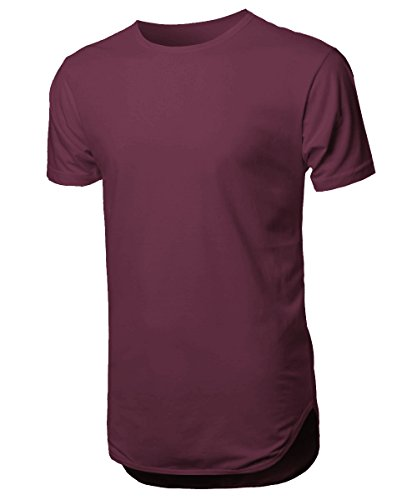 HC Mens Basic Hipster T Shirts Plain Hip Hop Jersey Soft Casual 1HCA0001 (X-Small, - Typical Clothes Hipster