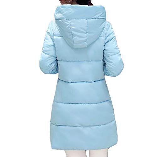 Invernale Cappotto Fulision Da Cappuccio Media Sezione E Donna Con Slim Fit Lunga A pxgIZqx