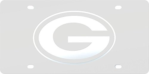 - Green Bay Packers FROST Design Deluxe Laser Cut Acrylic Inlaid Mirrored License Plate Tag Football
