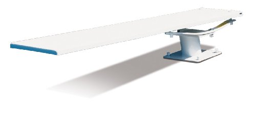 S.R. Smith 68-209-5962 606/608 Cantilever Jump Stand with 6-Feet Frontier III Diving Board, White ()