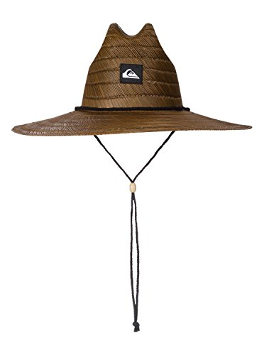 Quiksilver Young Men's Pierside Straw Hat Hat, -dark brown, L/XL