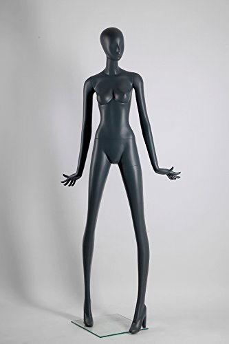 Fiberglass Mannequin (Female Full Body Fiberglass Mannequin Abstract Style, Grey Color (ados2))