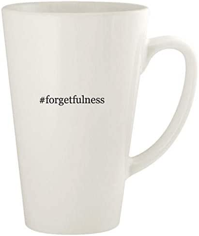 #forgetfulness - 17oz Hashtag Ceramic Latte Coffee Mug Cup, White