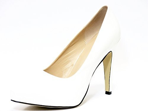 Ladies Womens High Heel Court Shoe / Office / Formal Shoes - White - UK Size 6 4OfW2rF
