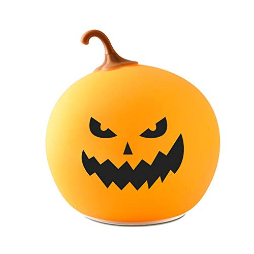 Enjoyment Halloween Pumpkin Lantern Light USB Rechargeable Pumpkin Lamp Halloween Nightlights LED Small Table Lamp Pumpkins Decor for Halloween Party Home