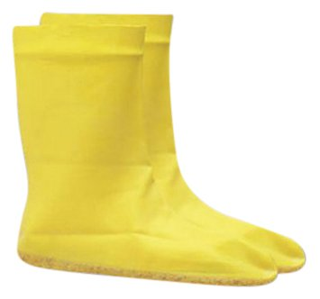 "Onguard Industries 97591-XL 12"" Latex Hazmat Booties, 2XL (13-16), Yellow, XL (10-12)"