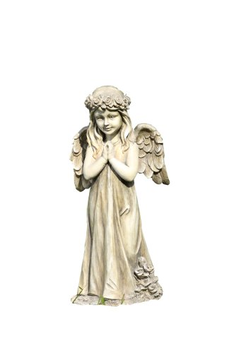 Napco Little Girl Praying Angel with Wings Garden Statue For Sale