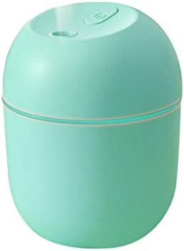 Kexle USB Cool Mist Humidifier, 220ml Large Capacity Mini Portable Humidifier with LED Night Light, Adjustable Mist Mode, Super Quiet Desktop Humidifier for Bedroom, Office, Car (Green)