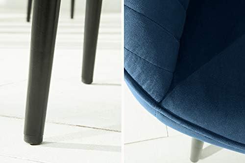 DuNord Design Lot de 2 chaises de Salle à Manger en Velours Bleu Roi