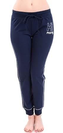 Navy Blue Ladies Himong Monkey Drawstring Sweatpants