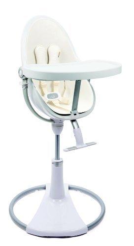 bloom White Fresco Chrome High Chair in Coconut White