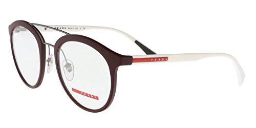 Prada PS01HV Eyeglass Frames U601O1-52 - Bordeaux - Prada Men Eyeglasses