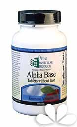Ortho Molecular Alpha Base Tablets w/o Iron