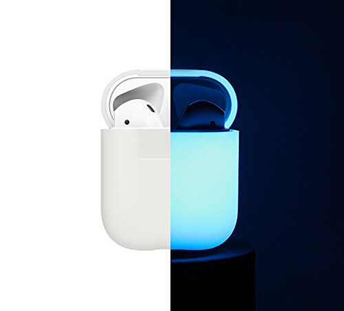 elago AirPods Silicone Case [Nightglow Blue] - [Extra Protection] [Hassle Free] - for AirPods Case