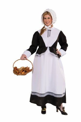 Forum Plus-Size Plymouth Pilgrim Woman Costume, Black, Plus Size