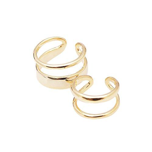 Gold Set Toe Ring - 2
