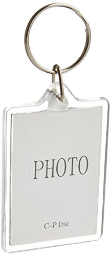 10pcs Clear Acrylic Blank Photo Picture Frame Keychain Keyring Insert (Rectangle)