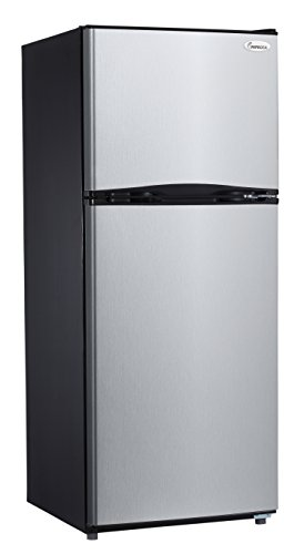 Impecca RA-2103ST Frost Free 9.9 cu.ft. Apartment Refrigerator with Top Mount Freezer, Stainless Steel by Impecca