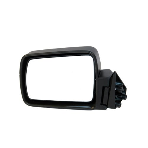 1984-1996 Jeep Cherokee, 1984-1990 Wagoneer, 1987-1992 Comanche Pickup Truck Manual Without Remote Cable Black Folding Rear View Mirror Left Driver Side (1984 84 1985 85 1986 86 1987 87 1988 88 1989 89 1990 90 1991 91 1992 92 1993 93 1994 94 1995 95 1996 96) - 1990 Jeep Pickup