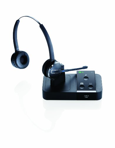 Jabra PRO 9450 Duo Flex-Boom Wireless Headset for Deskphone & Softphone by Jabra