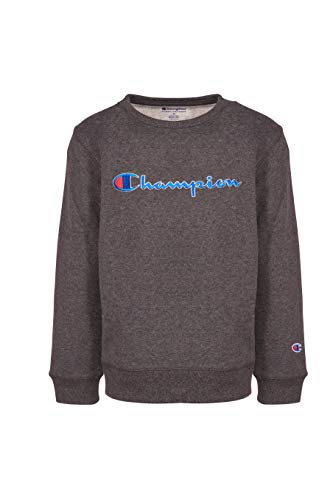 - Champion Unisex Heritage Fleece Script Pullover Sweatshirt (4, Granite Heather)