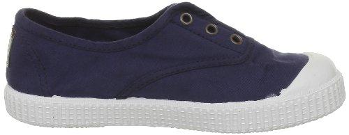 Victoria - Zapatillas de casa de tela para niños Azul (Bleu (Marino))