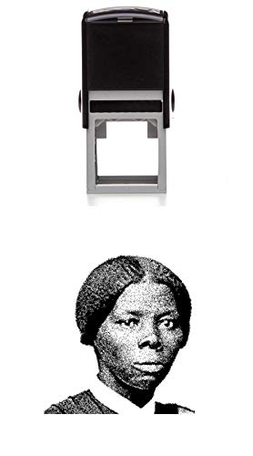 Harriet Tubman Rubber Stamp - Self Inking - 1-5/8 inch (41mm) Tall - Perfect for Stamping Over Andrew Jackson on Twenty Dollar Bills