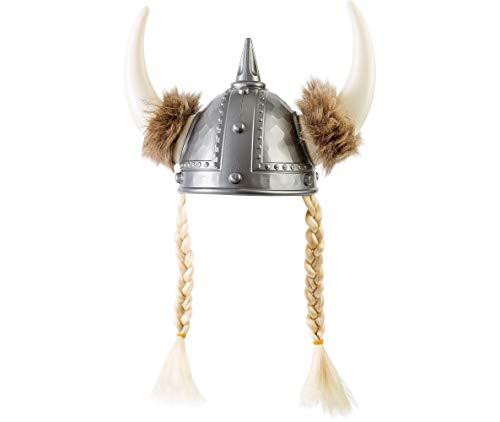 Amscan 841664 Viking Helmet with Braids, Standard, Black