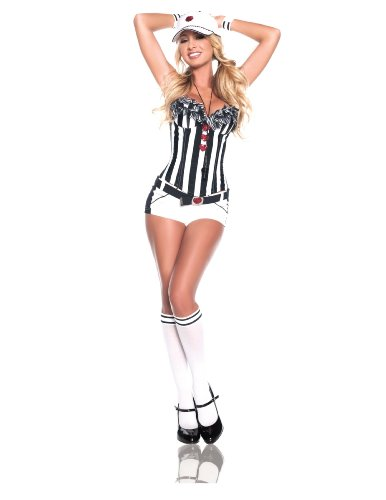 Starline Women's Love Referee Sexy Costume Set, White/Black, X-Large