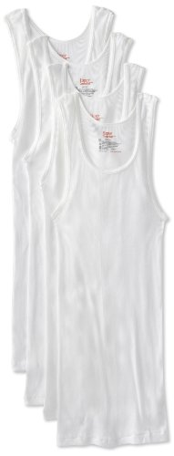 Hanes Men's 4-Pack Tanks, White, X-Large