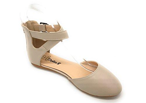 Blue Berry Easy21 Dames Casual Flats Ballet Enkelbandje Modeschoenen Nude 39