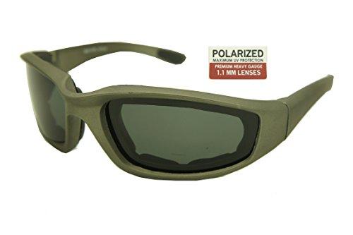ColorViper Premium Heavy Gauge Goggles Sunglasses (matte gunmetal / polarized 1.1mm lens, one - Metal Sunglasses Heavy