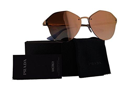 Prada Authentic Sunglasses PR64TS Antique Gold w/Pink Gradient Mirror 7OEAD2 SPR64T PR 64TS SPR 64T (66mm)