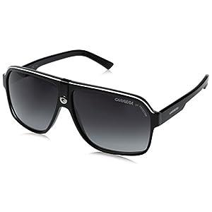 Carrera 33/S Aviator Sunglasses,Black Crystal Grey Frame/Dark Grey Gradient Lens,one size