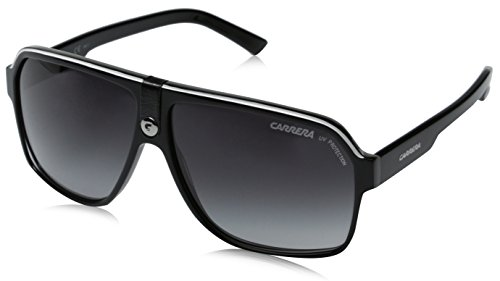 Carrera 33/S Aviator Sunglasses,Black Crystal Grey Frame/Dark Grey Gradient Lens,one - Carerra Glasses