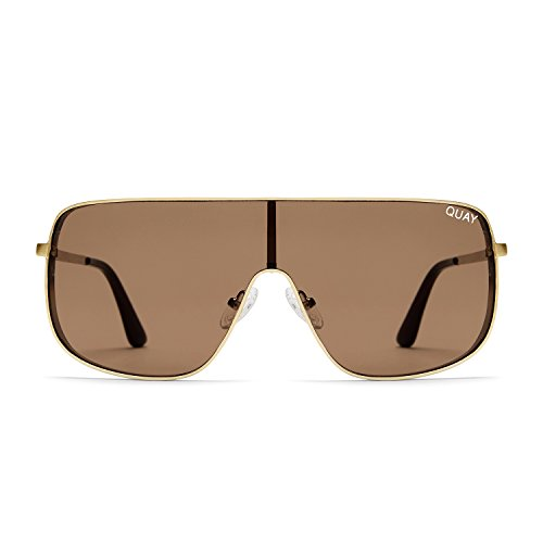 Quay Australia UNBOTHERED Women's Sunglasses Shield Sunnies - - Space Age Sunglasses