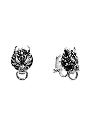 FF7 Advent Children: Cloudy Wolf Earrings (CLIP-ON STYLE)