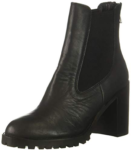Chinese Laundry Women's Jersey Ankle Boot, Black Leather, 11 M US
