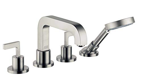 - AXOR Citterio 4-Hole Roman Tub Set Trim with Lever Handles with 1.8 GPM Handshower