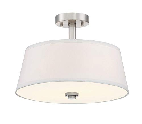 Designers Fountain 88511-SP Semi-Flush Satin - Flush Semi Ceiling Platinum Lamp